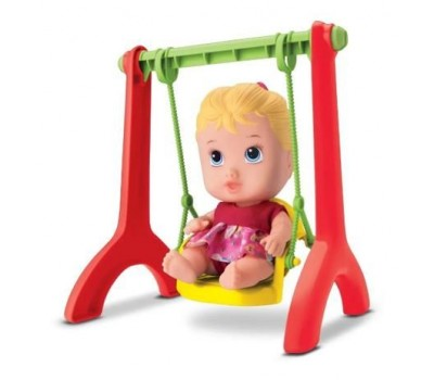 Boneca Bebe Little DOLLS Playground Balancinho - Divertoys