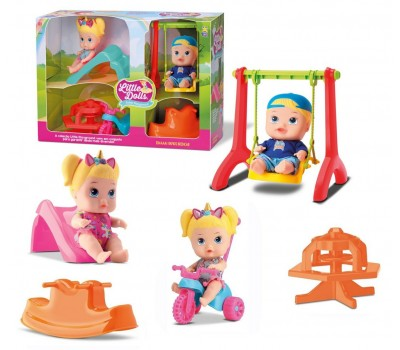 Bonecos Little Dolls Super Playground - Diver Toys