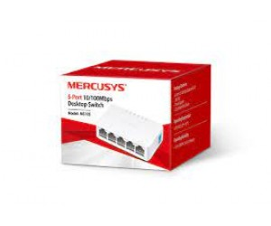 Switch De Mesa Mercusys 5 Portas 10/100mbps Ms105 C/ Nf