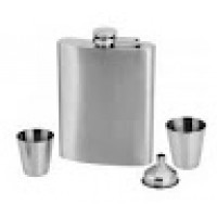 Kit Cantil P/ Whisky  Inox  (4 PC)